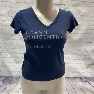 """""""I can't concentrate in flats"""" graphic tee"""